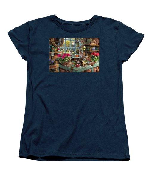 Grandpa's Potting Shed Women's T-Shirt (Standard Cut) by Steve Read