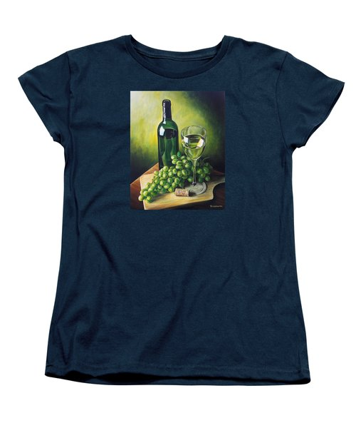 Grapes And Wine Women's T-Shirt (Standard Cut)