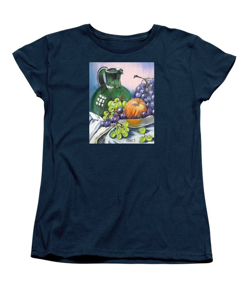 Grapes Galore Women's T-Shirt (Standard Cut) by Marilyn  McNish