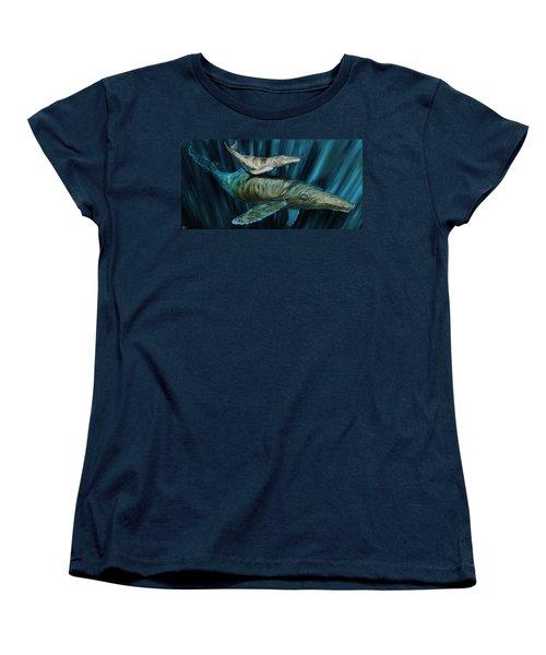 Graywhale Momma And Calf Women's T-Shirt (Standard Cut) by Steve Ozment