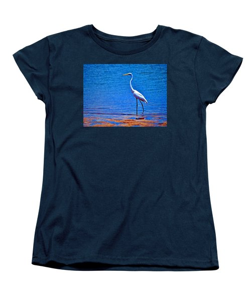 Great Egret Women's T-Shirt (Standard Cut) by Ludwig Keck