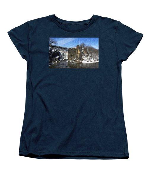 Great Falls Painted Women's T-Shirt (Standard Cut)