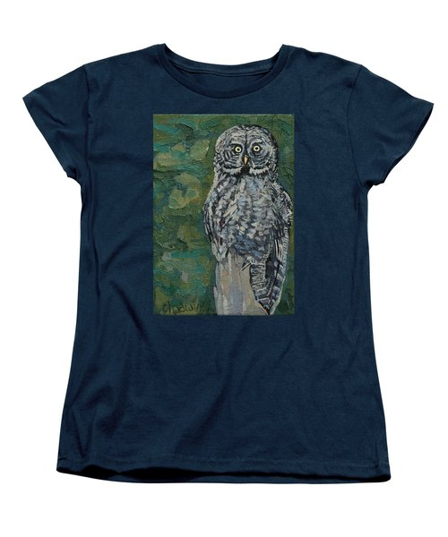 Great Gray Women's T-Shirt (Standard Cut) by Phil Chadwick