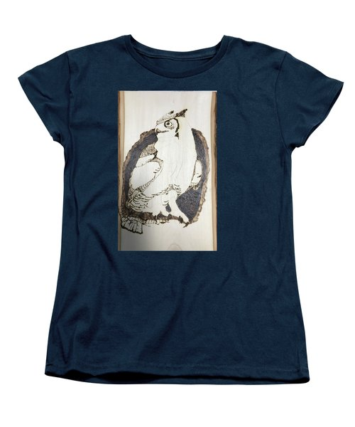 Great Horned Owl Women's T-Shirt (Standard Cut) by Terry Frederick
