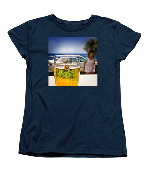 Greek Beer Goggles Women's T-Shirt (Standard Cut) by Meirion Matthias