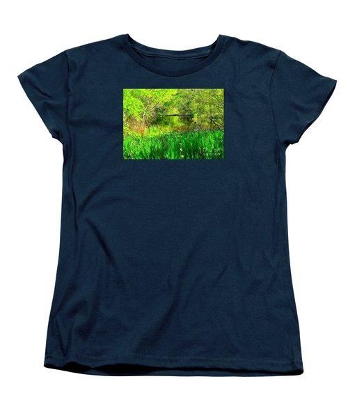 Women's T-Shirt (Standard Cut) featuring the photograph Green As Emerald's by Michael Hoard