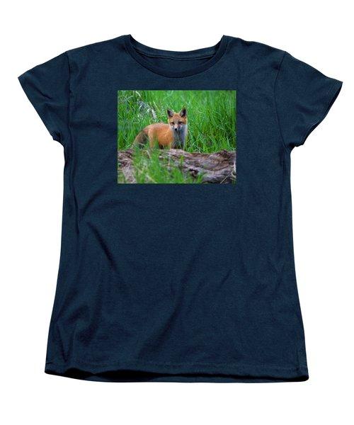 Green As Grass Women's T-Shirt (Standard Cut) by Jim Garrison