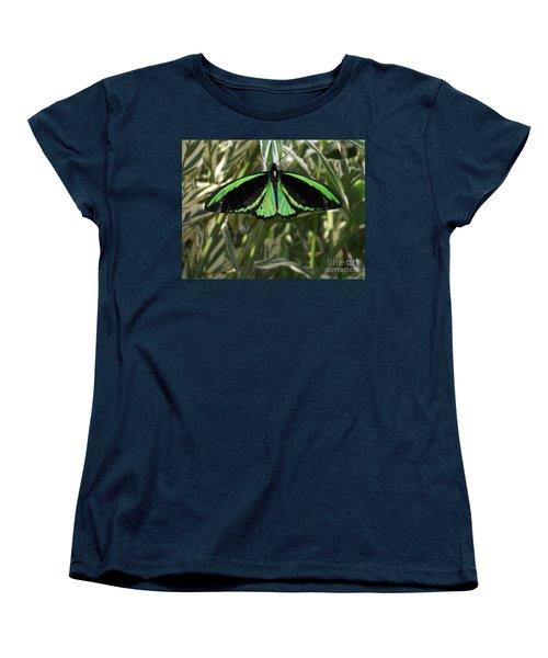 Women's T-Shirt (Standard Cut) featuring the photograph Green Butterfly by Brenda Brown