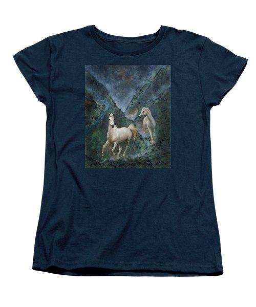 Green Canyon Run Women's T-Shirt (Standard Cut) by Melinda Hughes-Berland