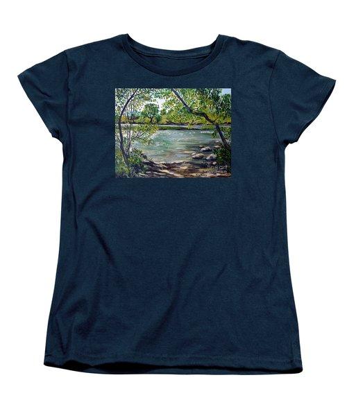 Green Hill Park On The Roanoke River Women's T-Shirt (Standard Cut) by Julie Brugh Riffey