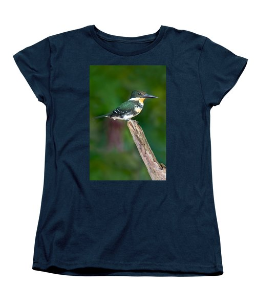 Green Kingfisher Chloroceryle Women's T-Shirt (Standard Cut) by Panoramic Images