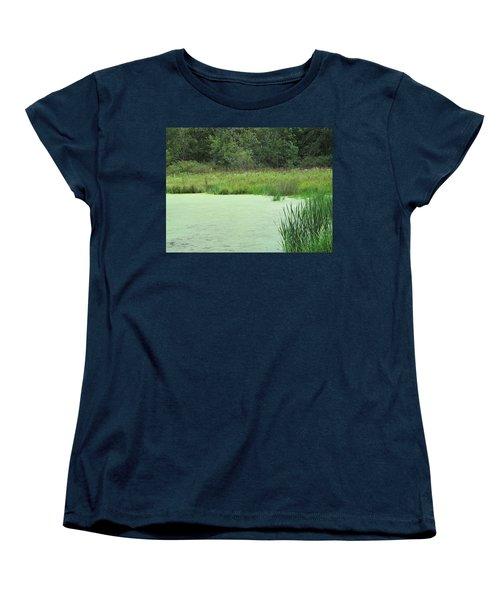 Women's T-Shirt (Standard Cut) featuring the photograph Green Moss by Tina M Wenger