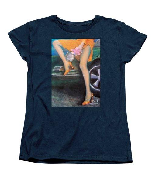 Green Porsche Women's T-Shirt (Standard Cut) by Mary Ann  Leitch