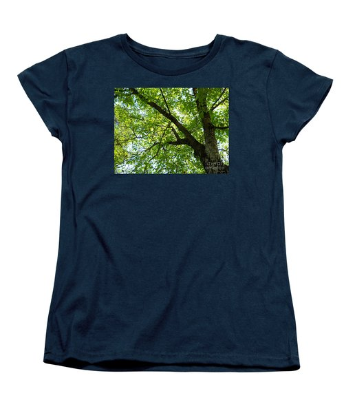 Green Women's T-Shirt (Standard Cut) by Ramona Matei