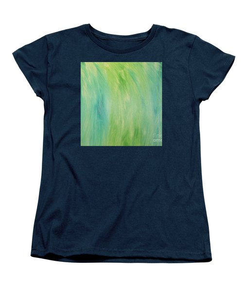 Green Shades Women's T-Shirt (Standard Cut) by Barbara Yearty