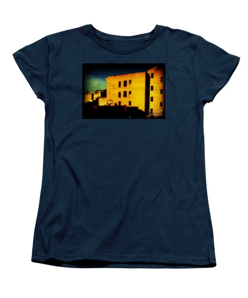 Green Sky Women's T-Shirt (Standard Cut) by Miriam Danar