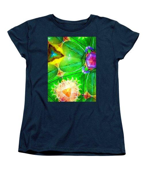 Green Thing 2 Abstract Women's T-Shirt (Standard Cut) by Saundra Myles