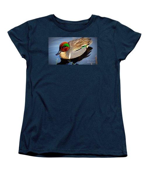 Green Winged Teal  Duck  Women's T-Shirt (Standard Cut) by Susan Garren