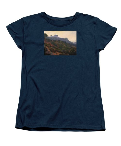Griffith Park Observatory- Late Morning Women's T-Shirt (Standard Cut) by Jane Thorpe