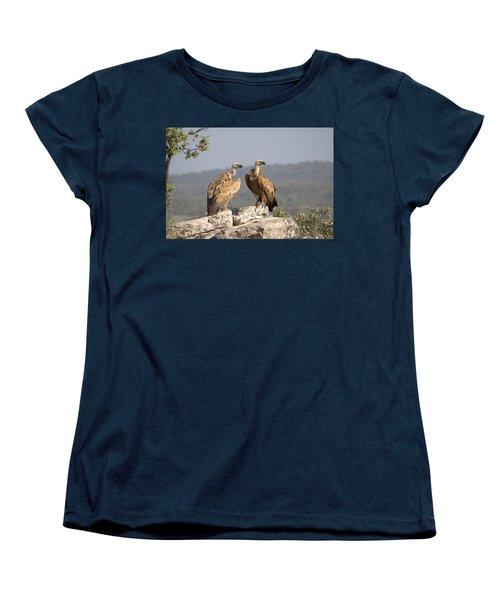 Griffon Vulture Pair Extremadura Spain Women's T-Shirt (Standard Cut) by Gerard de Hoog