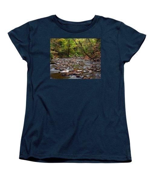 Creek Walk Women's T-Shirt (Standard Cut) by Richard Engelbrecht