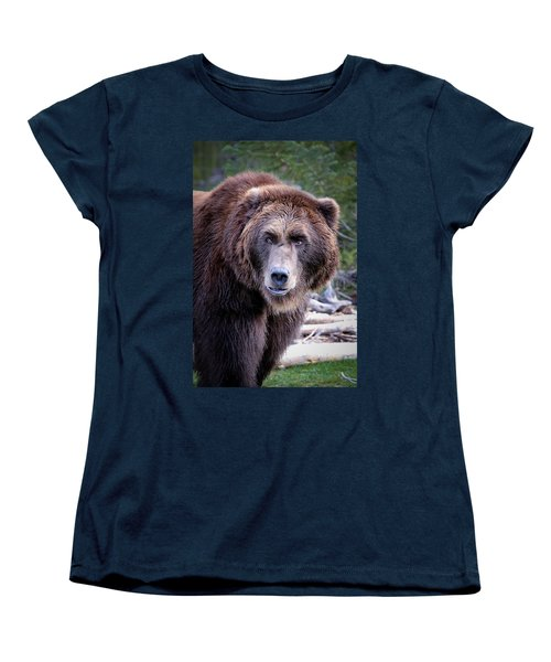 Women's T-Shirt (Standard Cut) featuring the photograph Grizzly by Athena Mckinzie