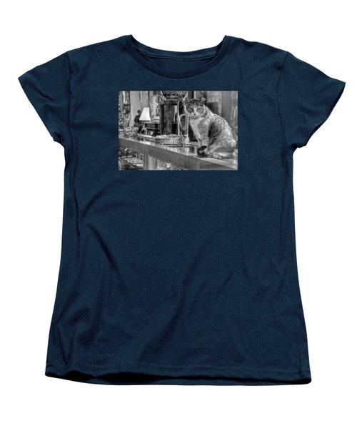 Guard Cat Women's T-Shirt (Standard Cut) by Ron White
