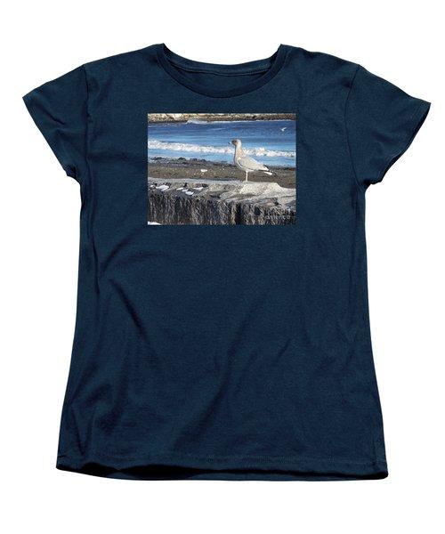 Women's T-Shirt (Standard Cut) featuring the photograph Seagull  by Eunice Miller