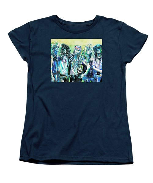 Guns N' Roses - Watercolor Portrait Women's T-Shirt (Standard Cut)