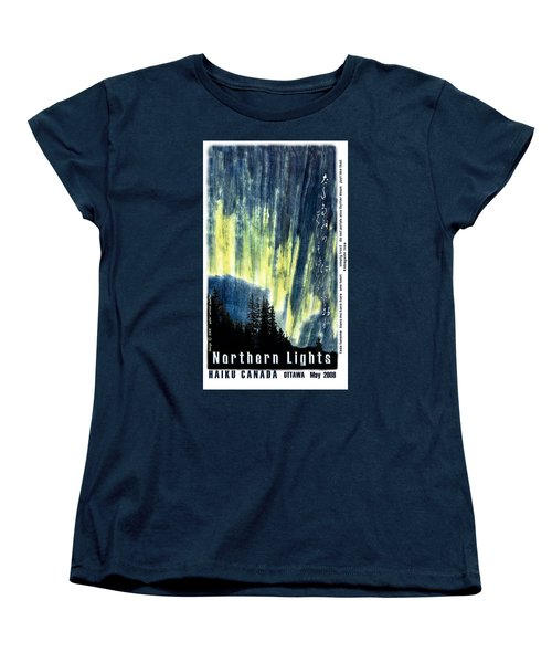 Women's T-Shirt (Standard Cut) featuring the photograph Haiga Poster Haiku Canada Conference  by Peter v Quenter
