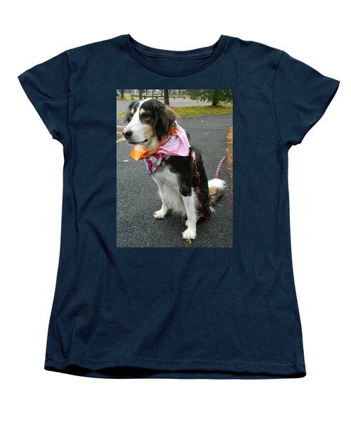 Women's T-Shirt (Standard Cut) featuring the photograph Haley The Wonder Dog by Emmy Marie Vickers