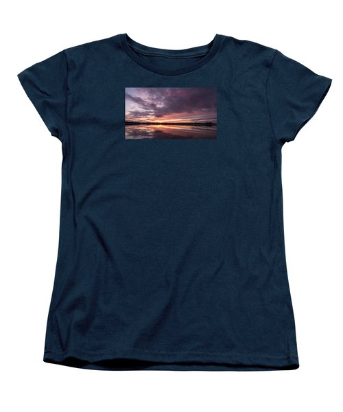 Halifax River Sunset Women's T-Shirt (Standard Cut) by Paul Rebmann