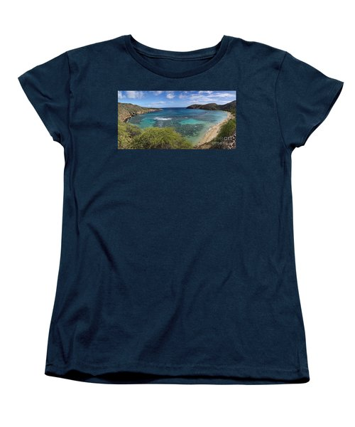 Hanauma Bay Panorama Women's T-Shirt (Standard Cut) by David Smith