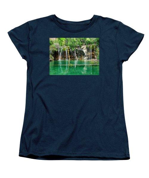 Hanging Lake 1 Women's T-Shirt (Standard Cut) by Ken Smith
