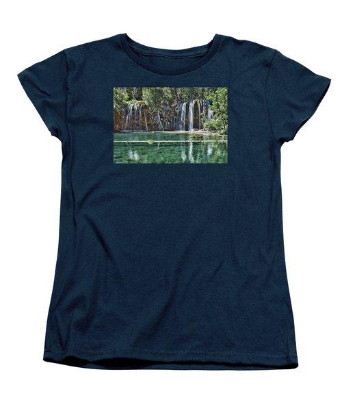 Hanging Lake Women's T-Shirt (Standard Cut) by Priscilla Burgers