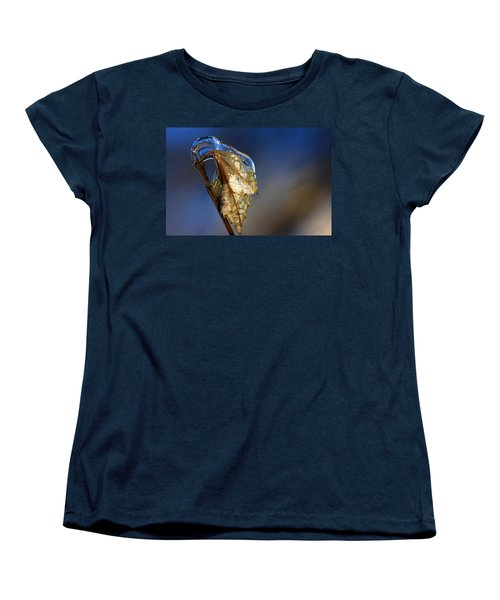 Women's T-Shirt (Standard Cut) featuring the photograph The Last Leaf  by Debbie Oppermann