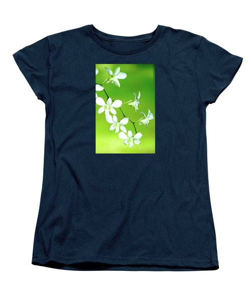 Hanging White Orchids Women's T-Shirt (Standard Cut) by Lehua Pekelo-Stearns