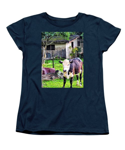Women's T-Shirt (Standard Cut) featuring the photograph Hanzawa Cow 1 by Dawn Eshelman