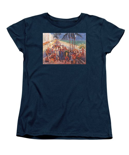 Women's T-Shirt (Standard Cut) featuring the painting Happening by Walter Casaravilla