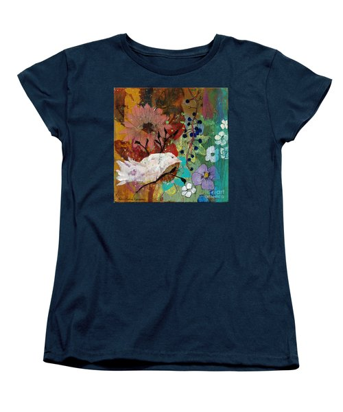 Women's T-Shirt (Standard Cut) featuring the painting Happiness by Robin Maria Pedrero