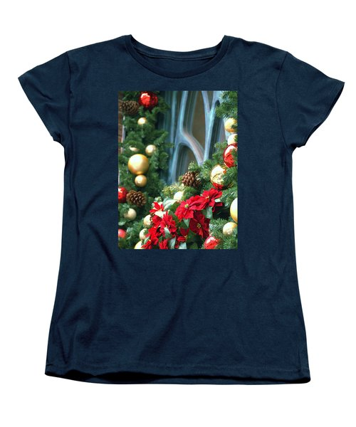 Happy Chirstmas Women's T-Shirt (Standard Cut) by Rachel Mirror
