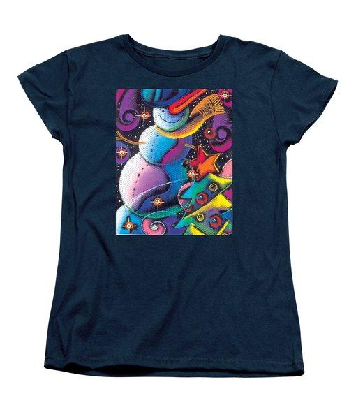 Happy Christmas Women's T-Shirt (Standard Cut) by Leon Zernitsky