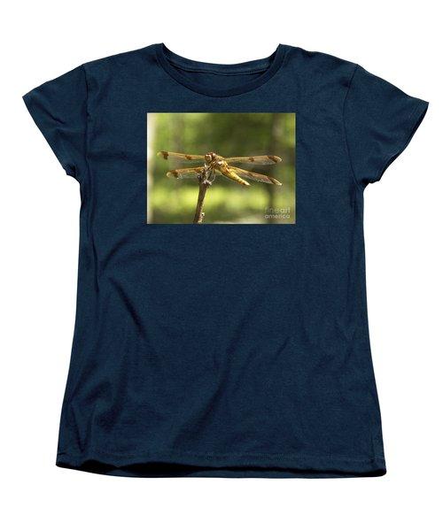 Happy Dragonfly Women's T-Shirt (Standard Cut) by Patrick Fennell