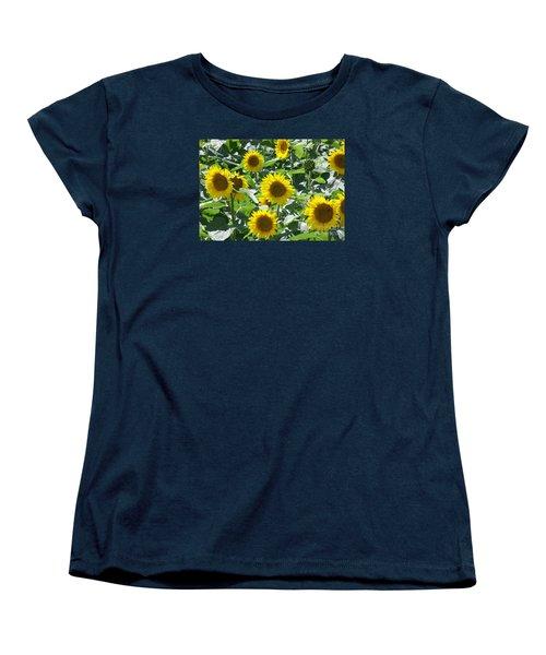 Women's T-Shirt (Standard Cut) featuring the photograph Happy Faces by Jackie Mueller-Jones