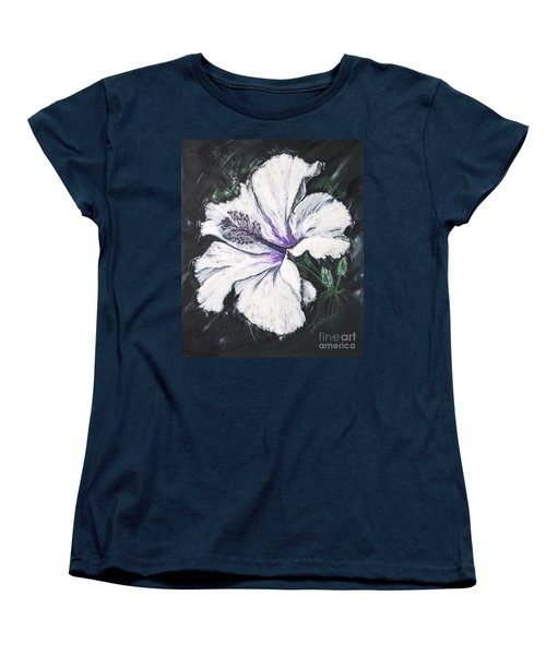 Happy Hibiscus Women's T-Shirt (Standard Cut) by Scott and Dixie Wiley