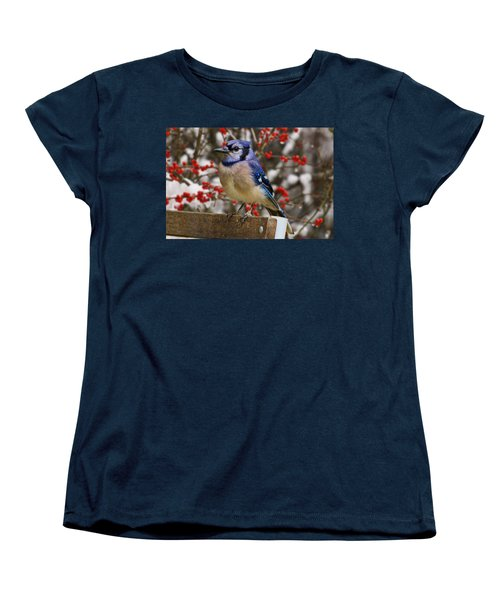 Women's T-Shirt (Standard Cut) featuring the photograph Happy Holidays by Gary Holmes