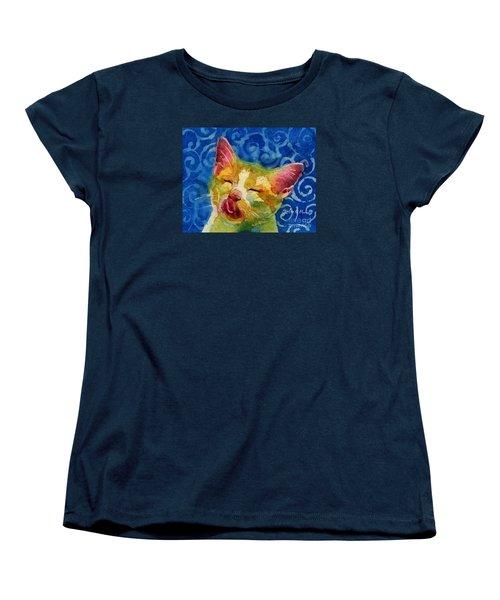 Happy Sunbathing Women's T-Shirt (Standard Cut) by Hailey E Herrera