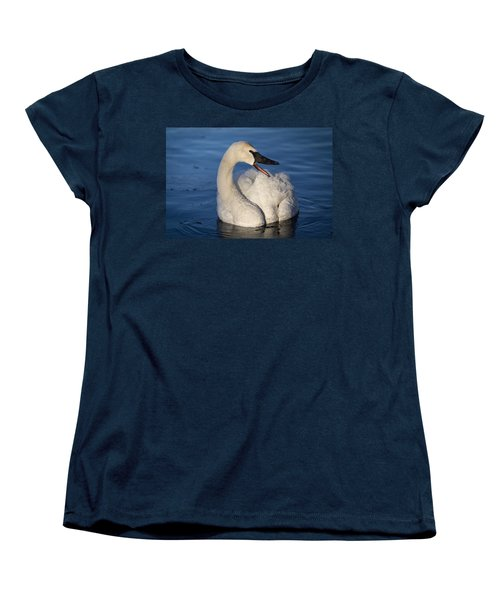 Women's T-Shirt (Standard Cut) featuring the photograph Happy Swan by Patti Deters