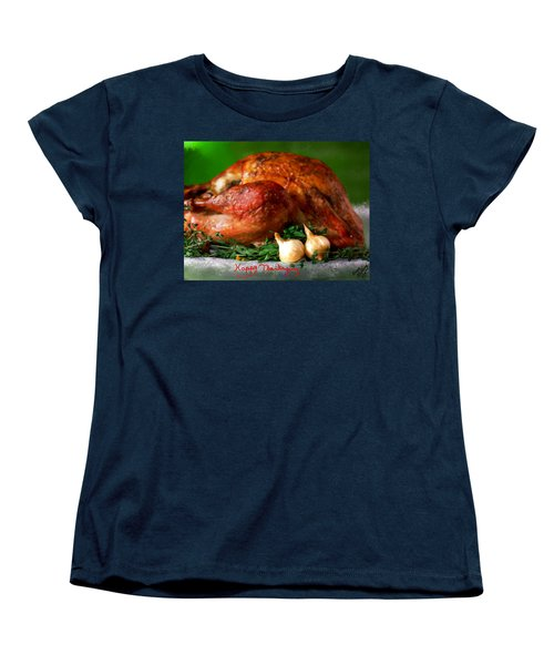 Happy Thanksgiving Women's T-Shirt (Standard Cut) by Bruce Nutting