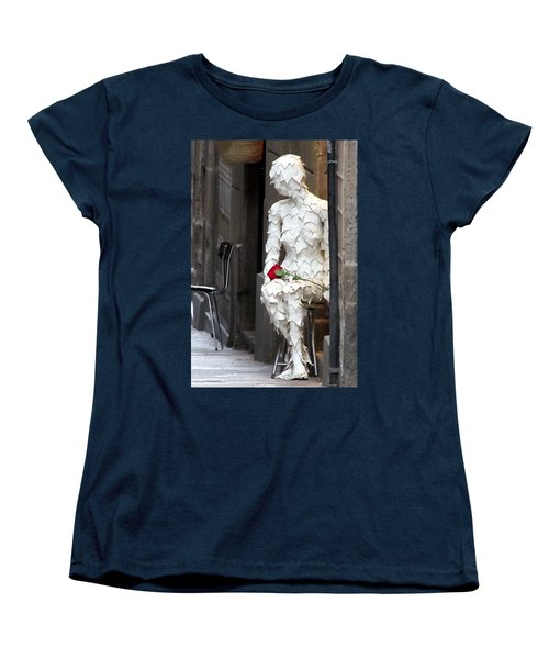 Women's T-Shirt (Standard Cut) featuring the photograph Happy Valentines Day by Jennifer Wheatley Wolf